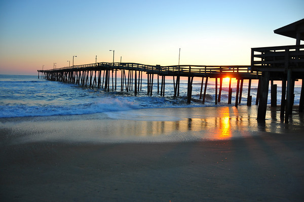 Sunrise under the Nags Head Pier, Outer Banks NC